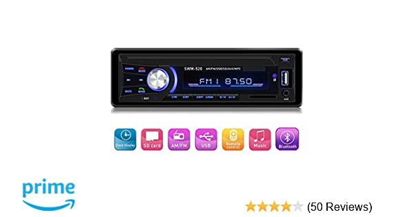 Amazon.com  Car Stereo with Bluetooth Single din in Dash cd641ee1f1