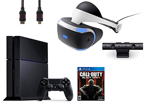 PlayStation VR Bundle 4 Items:VR Headse,Playstation Camera,PlayStation 4 Call of Duty Black Ops III