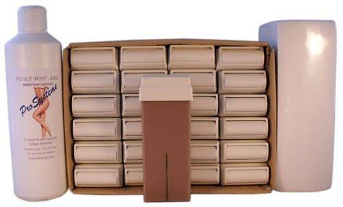 Epilwax S.A.S.–Juego de 24roll-on de cera épilatoire desechable en los Chocolate, con ruedas gran modelo para piernas, aisselles, y el cuerpo, con 250bandas y 1bote de aceite Après Depilación.