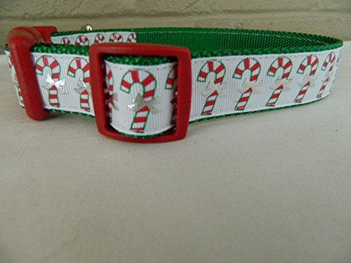 Schmoopsie Couture Christmas Candy Cane Dog Collar (Large...
