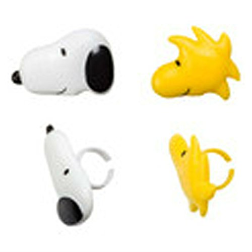 12 Snoopy and Woodstock Peanuts Cupcake Rings Toppers Party Favors ()