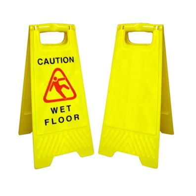 Amazon.com : A-Frame Safety Floor Sign, Wording Options=Blank-No ...