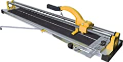 The QEP model 10900 35-Inch (900mm) Manual Tile Cutter is designed for both ceramic and porcelain tile. The simple score and snap process is a quick way to rip and diagonally cut tiles. The dual, chrome-plated rugged steel rails and linear ba...