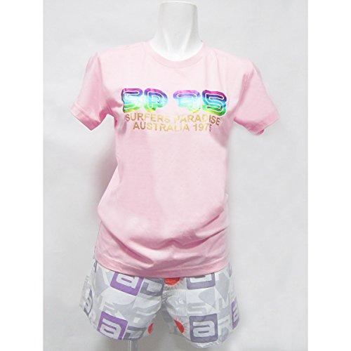 シャーロットブロンテゆりかご高度な(サーファーズパラダイス1975)SURFERS PARADISE 1975 Tシャツ 半袖Tシャツ レディース (M, PINK / ピンク)