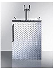 Summit SBC635MBIDPLTWIN Wine Dispenser, Silver With Diamond Plate