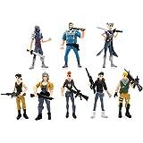 مجموعة من 8 قطع مؤلفة من ألعاب مجسمة لشخصيات انيمي من لعبة فورتنايت، ارتفاع 4.5 إنش