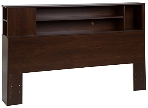 South Shore Vito Bookcase Headboard with Storage, Full/Queen 54/60-inch, Sumptuous Cherry (California King Bookcase)