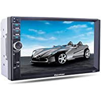 Excelvan 7021G 7 HD Bluetooth Touch Screen Car Stereo MP5 Player with GPS Navigation FM/AUX-IN/USB/SD Radio Aux Support Rear View Camera