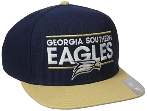 adidas NCAA Georgia Southern Eagles Adult Men Dassler Flat Brim Snapback, One Size, Navy (Eagles Southern Baseball)