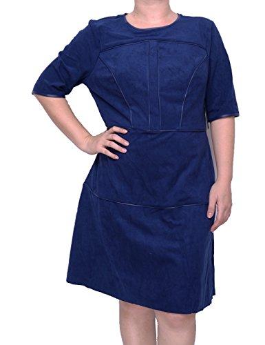 Guess Half Sleeve (Guess Women's Half Sleeve Sallie Suede Dress, Medieval Blue, XL)