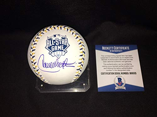 Carlos Beltran Autographed Signed Memorabilia Official 2016 All Star Baseball Houston Astros Beckett