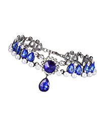 Dovewill Luxury Stylish Women Crystal Alloy Charm Choker Statment Drop Pendant Necklace Gifts
