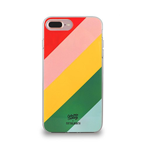Color Me Courtney x Fifth & Ninth for iPhone 6/6s/7/8 Plus Case - Walking on Rainbows - Including Tempered Glass Screen (Courtney Glasses)