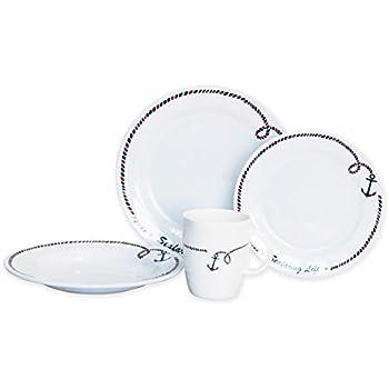 Norestar Non-Skid 16-Piece Melamine Dishware Set for Boat/RV Bowls  sc 1 st  Amazon.com & Amazon.com | Norestar Non-Skid 16-Piece Melamine Dishware Set for ...