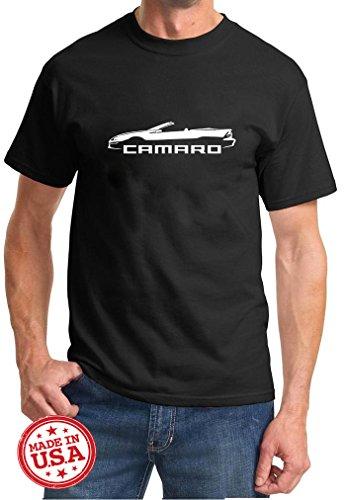 2003 Z28 Camaro - 1998-02 Camaro Convertible Classic Outline Design Tshirt 3XL black