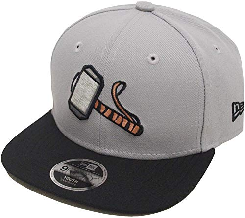 New Era Thor 9fifty 950 Grey Black UV Youth Snapback Cap Kids Kinder Children Limited Edition (Thor Flat Bill Hats)
