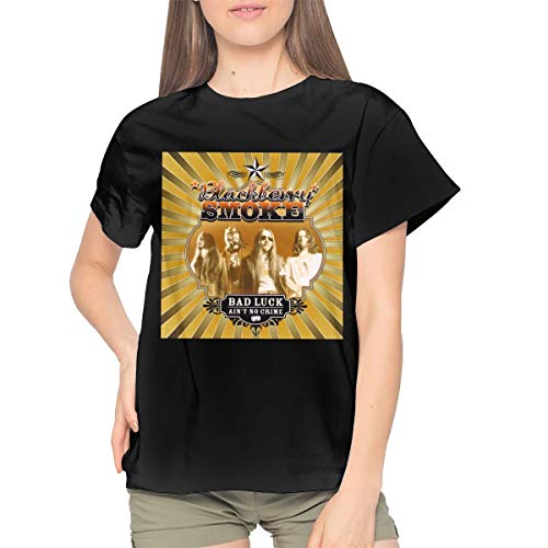BlackBerry Smoke Bad Luck Ain't No Crime Womans Classic Sexy Youth Girls T Shirts XL ()