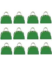 Green Metal Cowbell - 12 Pack