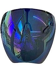 Sunglasses Protective Face Shield,Full Face Polarized Sunglasses, Large Mirror Sunglasses,UV Protection, for Men Women Reusable Sunglasses (E)