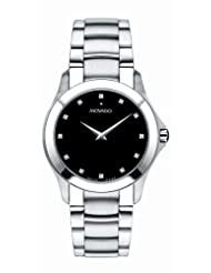 Movado Men's Masino Swiss Movement Stainless-Steel Black Dial Watch 0606185