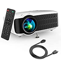 """Movie Projector, DBPOWER 2019 Newest 120 ANSI LCD Video Projector Free HDMI 176"""" Display 50,000 Hours LED Portable Projector Support 1080P, Compatible with AV, USB, SD, Amazon Fire TV Stick"""