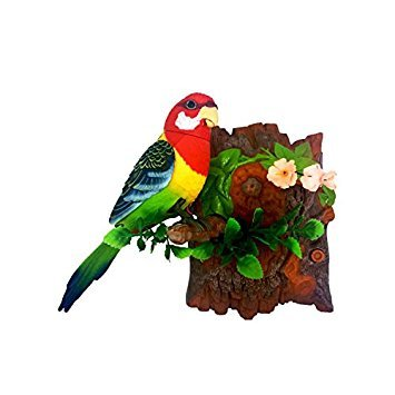 Heat Sensor Chirping Bird with Sweet Sound and Body Move As It Chirps (Vertical, Eastern Rosella) (Singing Best Birds)