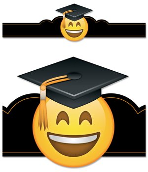 Creative Teaching Press Emoji Fun Graduation Crowns Pack of 30 (2566)