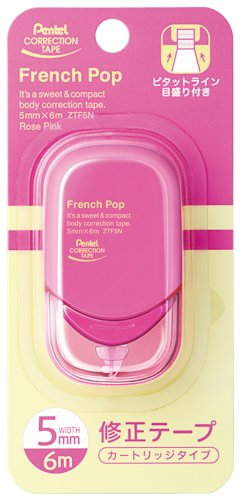 Pentel Correction Tape French pop XZTF5NPW 10 piece set Rose Pink Pentel Correction Tape