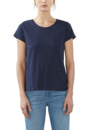 ESPRIT 997ee1k804, Camiseta para Mujer Azul (Navy 400)