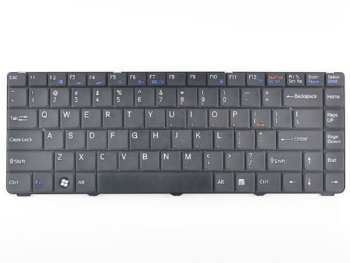 Sony Vaio Keyboard Layout (Eathtek Replacement Keyboard For SONY VAIO VGN-NS VGN-NR Series VGN-NS110E VGN-NS210E/L VGN-NS325J VGN-NR430E PCG-7Z1L PCG-7Z2L PCG-7Z1N series Black US Layout, Compatible part# 148044221 V072078BS1)