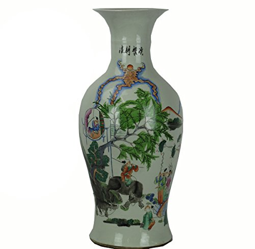 Tall Vintage Chinese Famille Rose Porcelain Vase