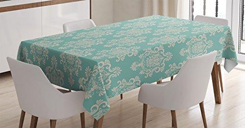 Amazon Com Ambesonne Damask Decor Tablecloth Foliate