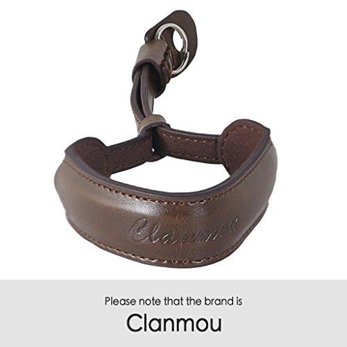Clanmou Camera Hand Strap Compatible A6300 A6500 RX100IV Fujifilm X30 X100S Wrist Strap Canon G5X G9X G7X Mark II Nikon J5 Camcorder Camera Strap Dark Brown