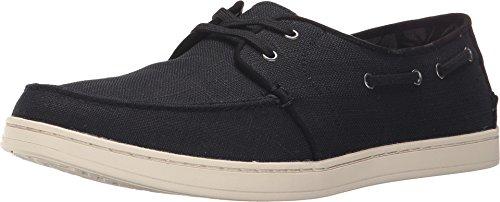 TOMS Mens Culver Lace-Up Black Washed Linen Sneaker 11.5 D (M)