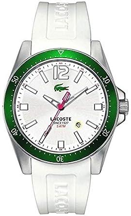 Lacoste 2010664 - Reloj analógico de Cuarzo para Hombre con Correa de Silicona, Color Blanco: Amazon.es: Relojes