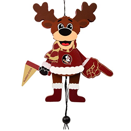 Forever Collectibles Florida State Seminoles Official NCAA Holiday Christmas Ornament Cheering Reindeer by 498421 by Forever Collectibles