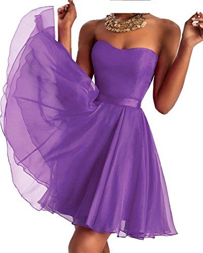 Abschlussballkleider Mini Charmant Cocktailkleider Schwarz Damen Abendkleider Tanzenkleider Traegerlos Brautjungfernkleider Lila Ypw1vYq