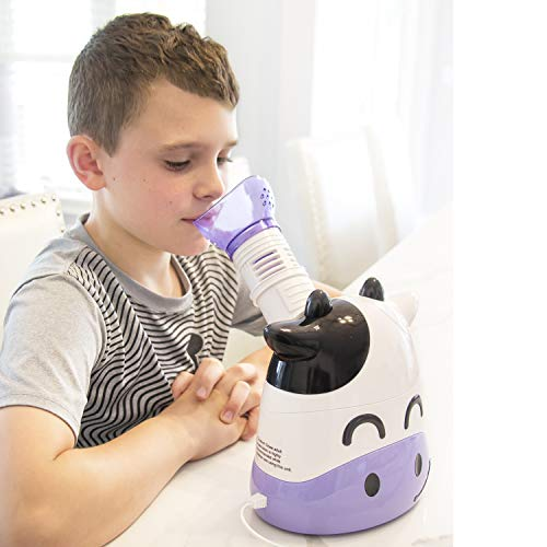 HealthSmart Humidifier and Personal Steam Inhaler for Kids Includes an Aromatherapy Tank and Facial Mask That Offers a Quick 6-9 Minute Therapy with Variable Steam Adjustment, Margo Moo (Best Meds For Laryngitis)