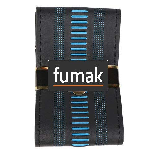 - fumak Steering Wheel Cover - Steering Wheel Cover Universal 38 cm/Artificial Leather Braid for Steering-Wheel Thread, Needle Stitch on(3D Embossing) (Blue)