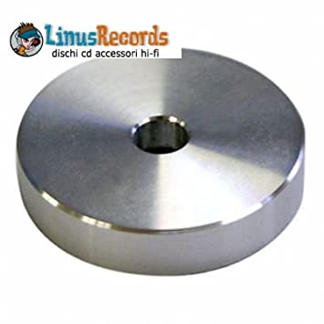 Adaptador de aluminio para tocadiscos para 45 rpm. con agujero...