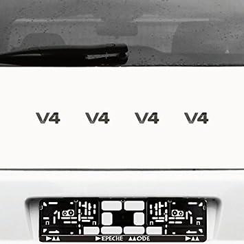 Amazon fr : v1 v2 v4 v5 v6 v8 v10 v12 chrome Autocollants