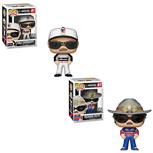 Funko POP! NASCAR: Dale Earnhardt and Richard Petty Toy Action Figure - 2 POP Bundle ()