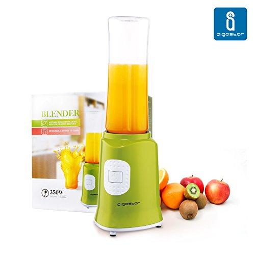 Aigostar-Myfrappe-Green-JKY19-Batidora-de-vaso-y-picadora-de-frutas-para-smoothies-frappes-batidos-Color-verde-y-350-watios-Diseo-Exclusivo