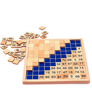 BuW Montessori Mathematics 1 - 100 Counting Wooden Board Toys ,helps the child develop great imagination