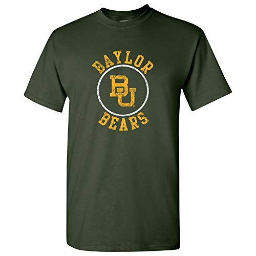 UGP Campus Apparel AS04 - Baylor Bears Distressed Circle Logo T-Shirt - X-Large - Forest