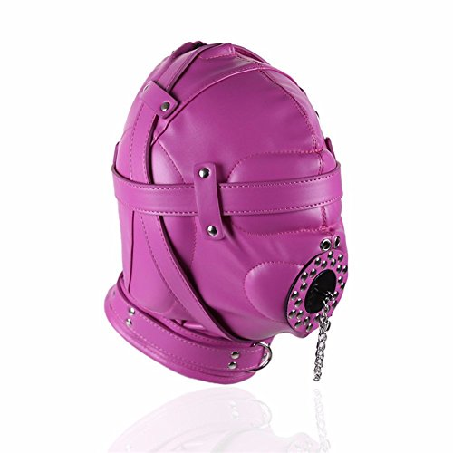 FaLaiDi Leather Eyes with Zipper Helmet Adult Creative Windproof Helmet Cosplay Hood Halloween Party Mask