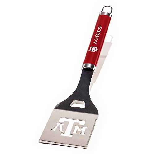 NCAA Texas A&M Aggies Die-Cut Stainless Steel Spatula with Color Handle (Texas A&m Aggies Barbecue)