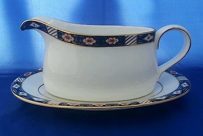 Royal Crown Derby Kedleston Gravy Boat and Stand NEW