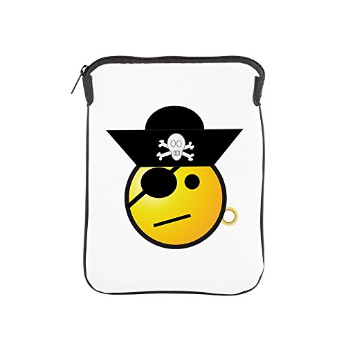 iPad 1 2 3 4 Air II Sleeve Case (2-Sided) Smiley Face Pirate by Truly Teague