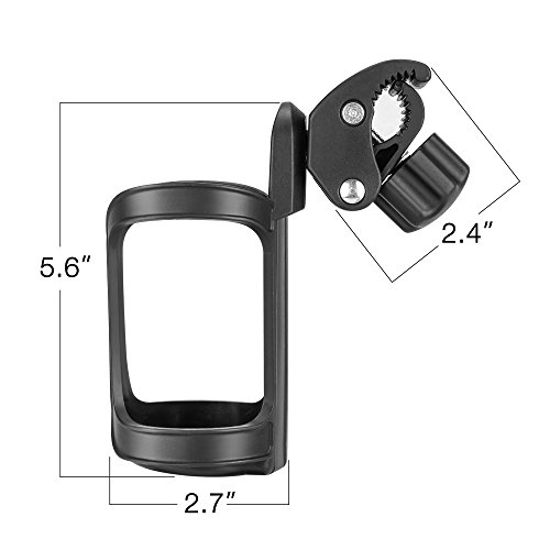 Bike Cup Holder, Komake Stroller Bottle Holders Upgrade Edition Universal 360 Degrees Rotation Antislip Cup Drink Holder for Baby Stroller, Pushchair, Bicycle, Wheelchair, Motorcycle (2 Pack) by Komake (Image #6)